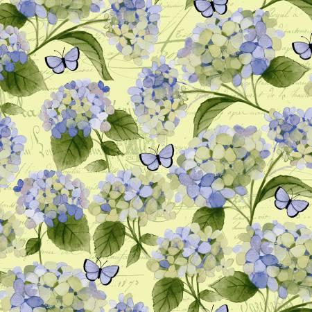 Clothworks Heavenly Hydrangeas Y2256-58