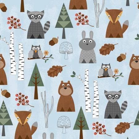 Clothworks Nature Friends Y2261-29
