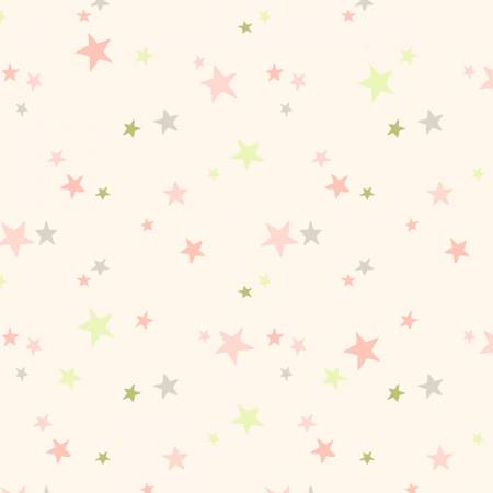 GUESS HOW MUCH I LOVE YOU FLANNEL CREAM WITH PINK AND GREEN STARS Y2323-41