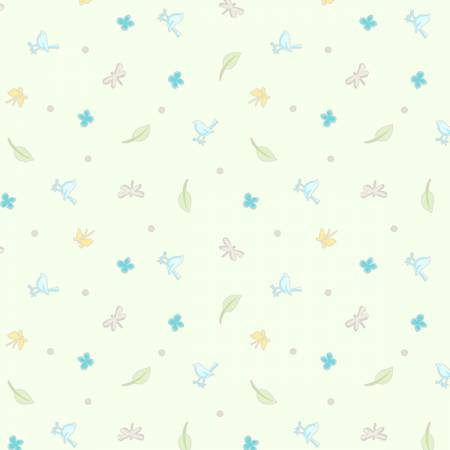 Guess How Much I Love You Light Mint Toss Children's Fabric 44 Inches Wide