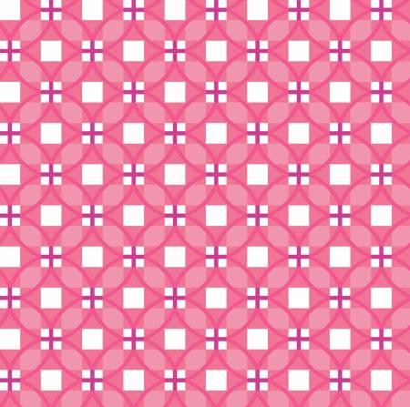 Raspberry Plaid Circles