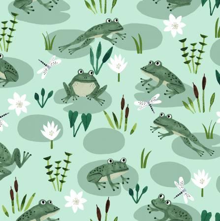 Lt Mint Frogs in Pond