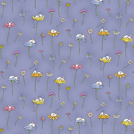 Daisy & Mouse Dark Periwinkle