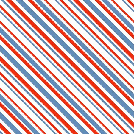 Red, White, and Blue Stripe:  Keep On Truck'n by Anne Was Here for Clothworks