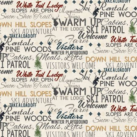 Khaki Winter Playground Words