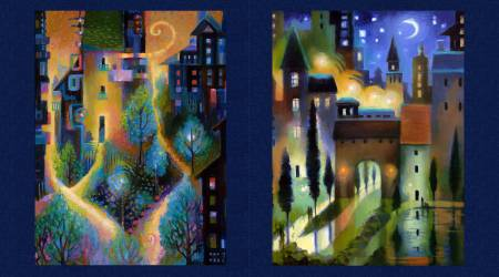 City Dreams Panel Dark Indigo