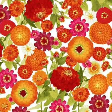 Orange Packed Floral