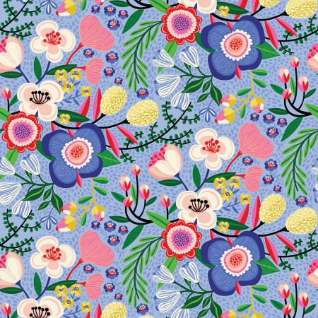 Periwinkle Floral Make Today Awesome Blooms by Helen Dardik