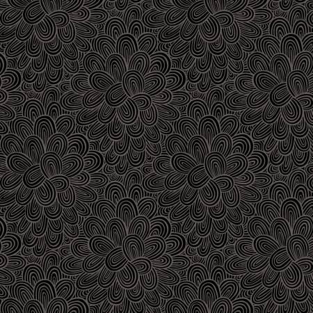 Black Blooming Tonal Make Today Awesome by Helen Dardik