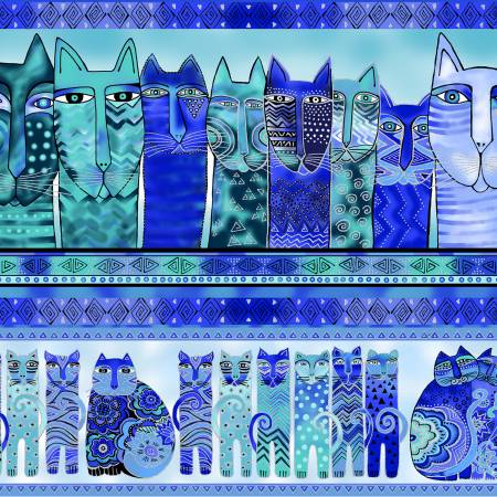 Royal Feline Frolic Pic Stripe w/Metallic Y2797-31M