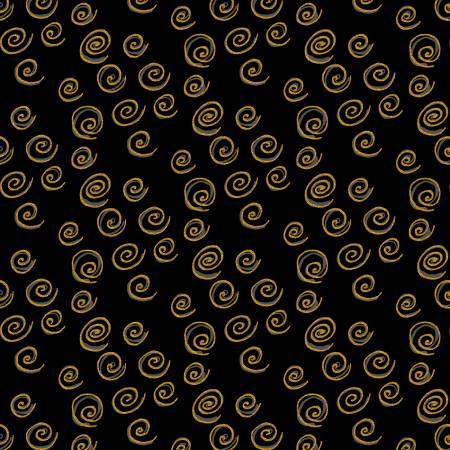 Black Spiral Tonal w/Metallic