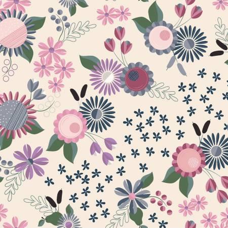 Light Khaki Floral y2813-11