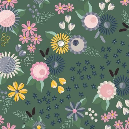 Light Forest Floral y2813-112