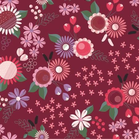 Wine Floral y2813-48
