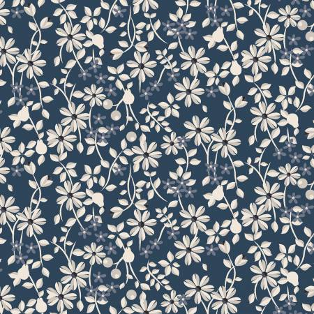 Light Navy Small Floral y2815-93
