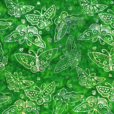 Dark Lime Flutterbye Batik