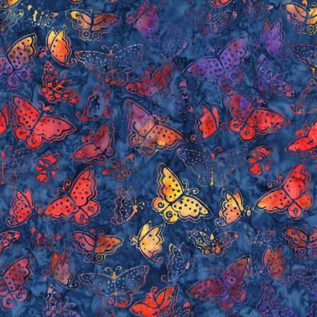 Multi Color Small Flutterbye Batik