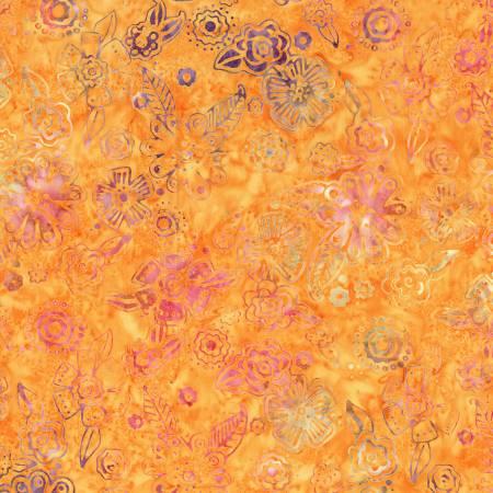 Orange Small Flutterbye Batik