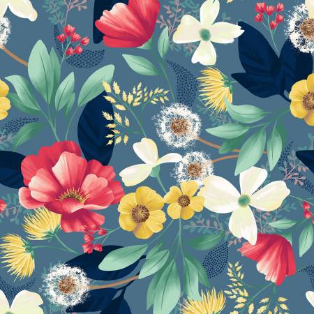 Denim Floral Meadow