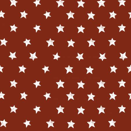 Clothworks Dark Red Stars Y2924-83