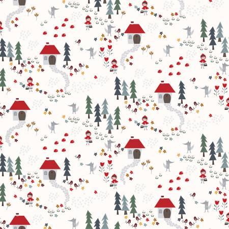 Clothworks Little Red Y2940-2 Light Cream