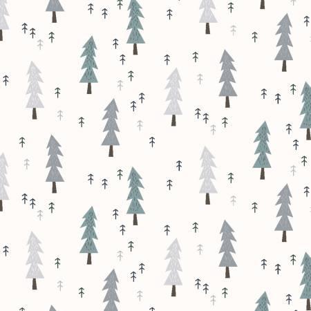 Y2942 2 Light Cream Mini Trees Little Red for Clothworks Fabrics. 100% cotton 43 wide