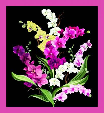 Black Orchid Fancy Panel 24.5in x 44in