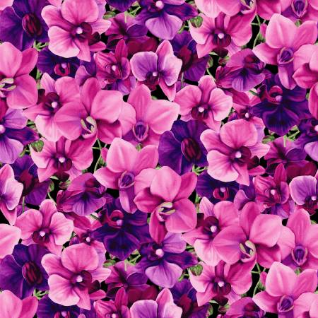 Orchid Fancy Fuchsia Packed Floral by Cedar West