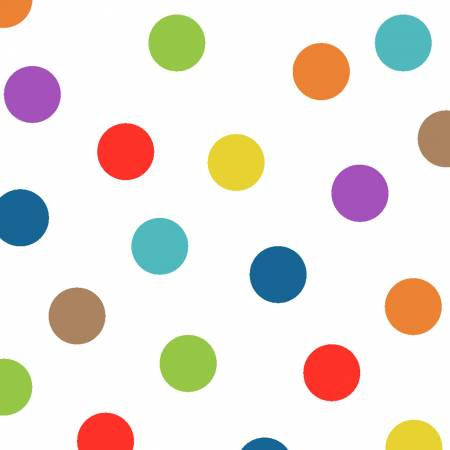 Y2958 56 Multi Big Dot You Are Amazing for Clothworks Fabrics. 100% cotton 43 wide