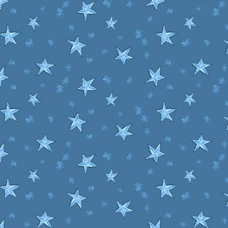 Just What I Wanted Y2980-88 Denim Starry Night Christmas
