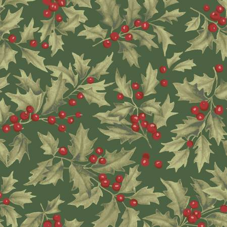 Clothworks Let Nature Sing Y2985-113 Forest Holly