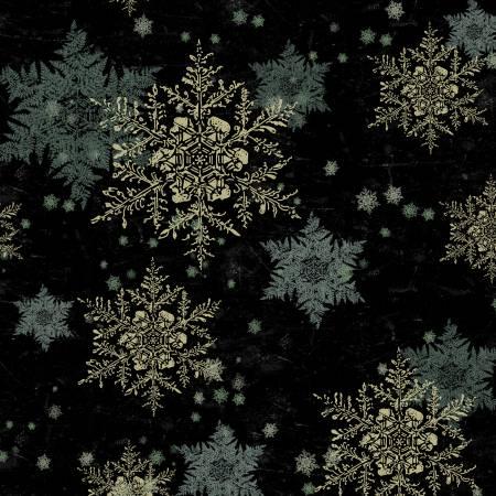 Let Nature Sing Black Snowflakes Y2986-3