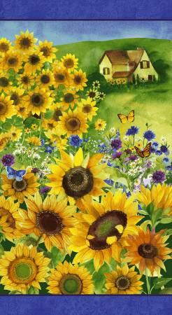 Clothworks Multi Sunflower Panel 24 inches