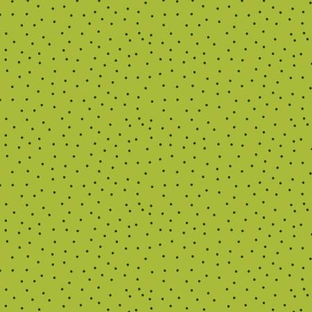 SPECIALTY FABRICS:   Green Mini Dots on Olive:  Sunny Fields by Sue Zipkin for Clothworks