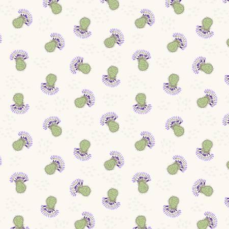 Y3066-11 Light Khaki Flower Heads Thistle Patch Clothworks
