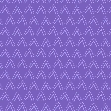 Y3067-28 Dark Purple Double V Thistle Patch Clothworks
