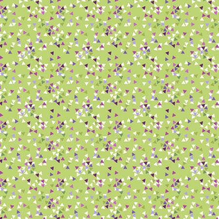 Y3069-24 Olive Triangles Thistle Patch Clothworks