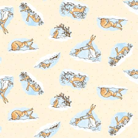 Butter Guess How Much I Love You Bunny Fabric by the Yard