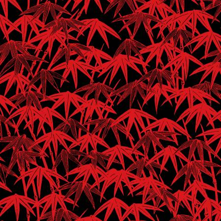 Tomato Bamboo Forest - Ruby Night by Clothworks