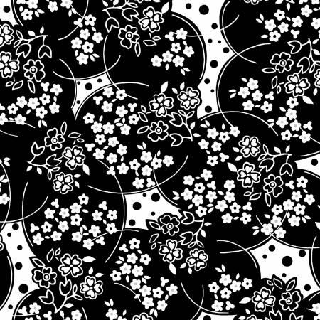 Ruby Night Black Floral Delight