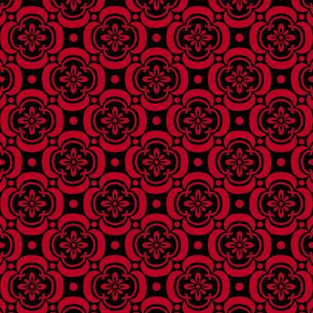 Light Red Cherry Blossom - Ruby Night by Clothworks