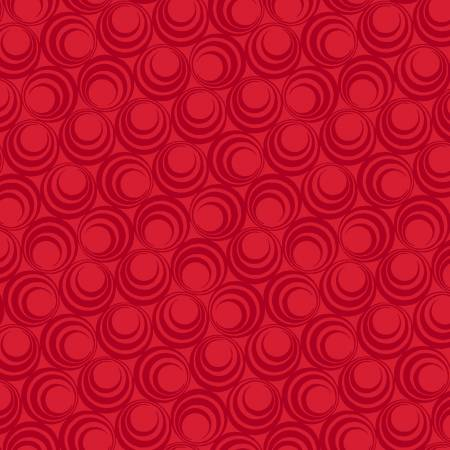 Light Red Concentric Circles - Ruby Night by Clothworks