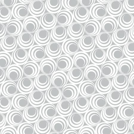 Light Grey Concentric Circles - Ruby Night by Clothworks