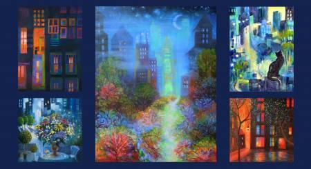 City Lights Panel 24X44 By K.G. Taylor