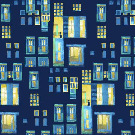 City Lights - Citron Cats in Windows