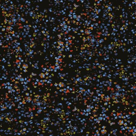 Y3098 3 Black Leaf Dot City Lights for Clothworks Fabrics. 100% cotton 43 wide