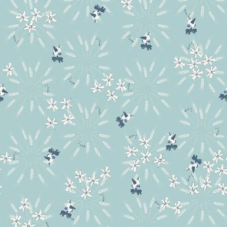 Y3101-103 Light Teal Wheat Blue Goose by meags & me Clothworks