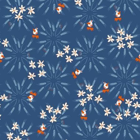 Y3101-89 Dark Denim Wheat Blue Goose by meags & me Clothworks