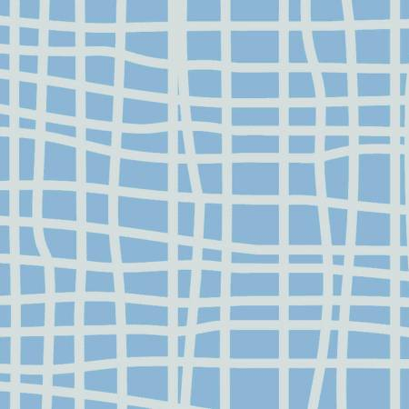 Y3103-29 Light Blue Grid Blue Goose by meags & me Clothworks