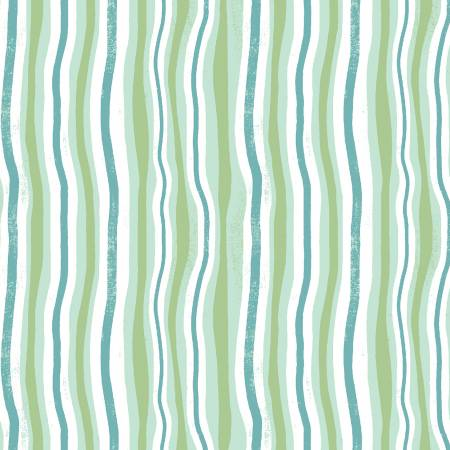 Y3114-110 Jungle Jive - Mint Wavy Stripe